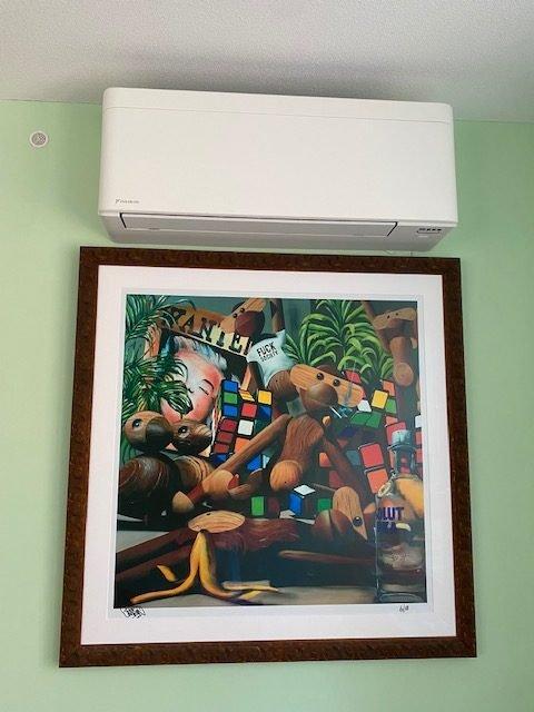 Airconditioning aan muur