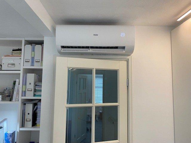 Airconditioning installatie binnen
